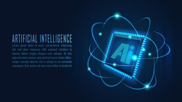 Sfondo di intelligenza artificiale