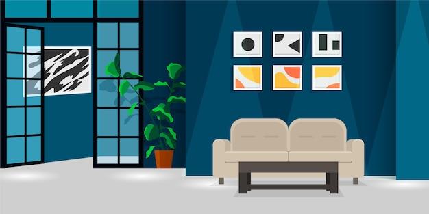 Sfondo di interni domestici per videoconferenze