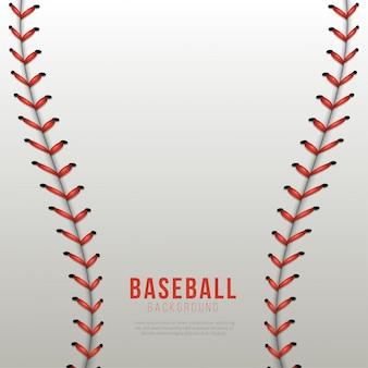 Sfondo di lacci da baseball