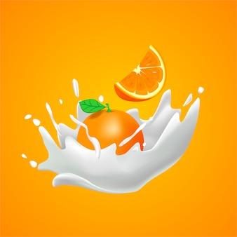 Sfondo di latte arancione