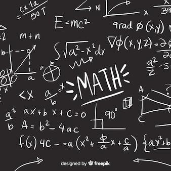 Sfondo di lavagna matematica realistica