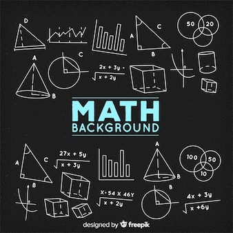 Sfondo di lavagna matematica