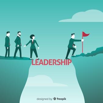 Sfondo di leadership in design piatto