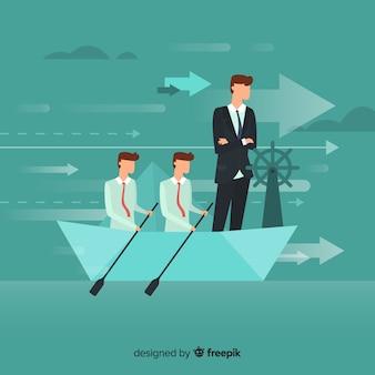 Sfondo di leadership piatta
