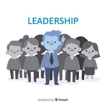 Sfondo di leadership