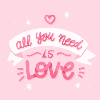 Sfondo di lettere di nozze tutto ciò che serve è l'amore