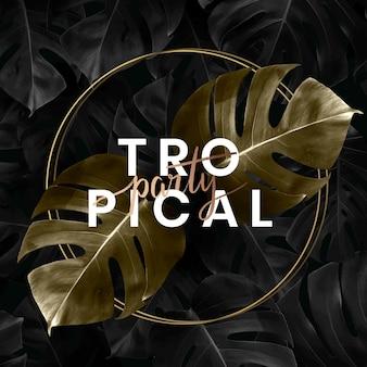 Sfondo di lettering partito tropicale