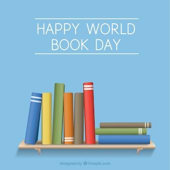 Sfondo di libri su uno scaffale