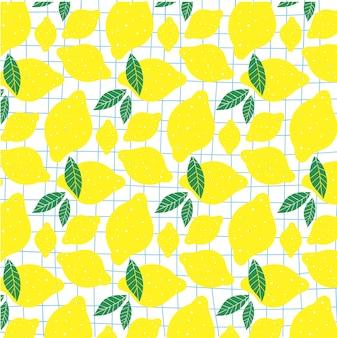 Sfondo di limoni freschi
