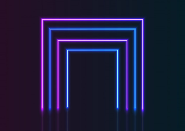 Sfondo di linee al neon