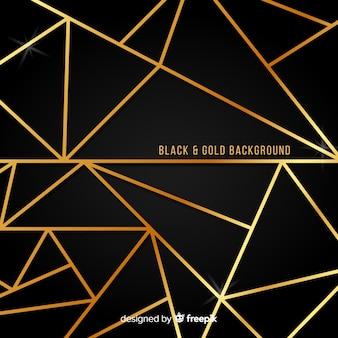 Sfondo di linee d'oro