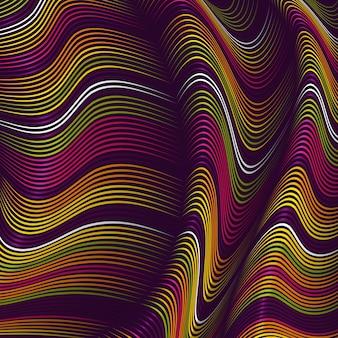 Sfondo di linee deformate