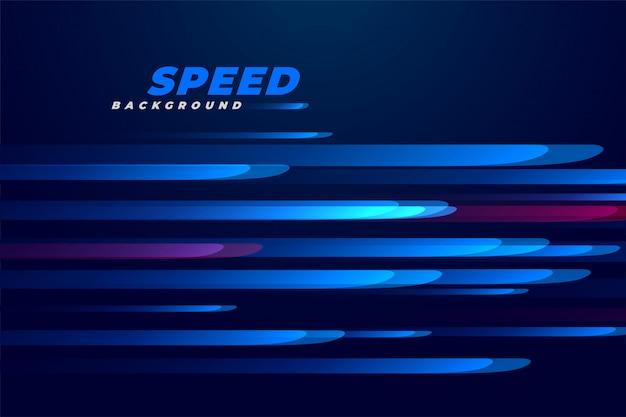 Sfondo di linee di movimento velocità blu