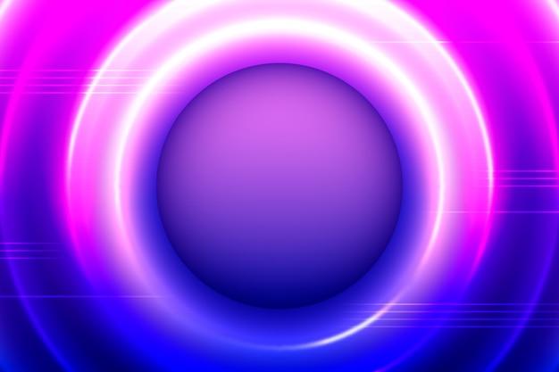 Sfondo di luci al neon con cerchi