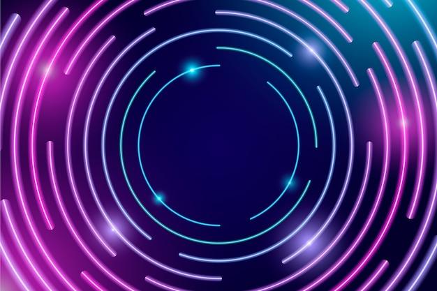 Sfondo di luci al neon di disegno astratto