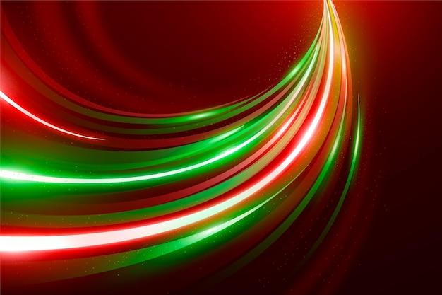 Sfondo di luci al neon di velocità