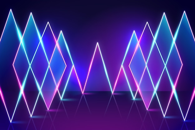 Sfondo di luci al neon luminose