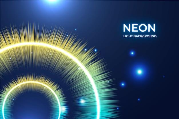 Sfondo di luci al neon luminosi
