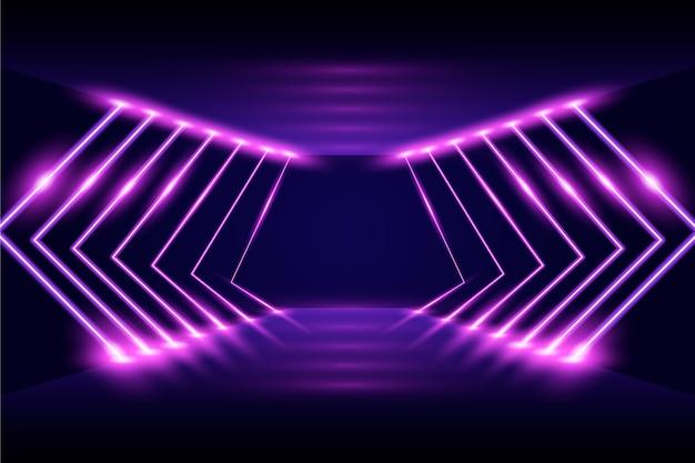 Sfondo di luci al neon stile astratto