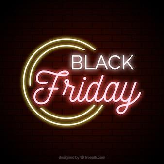 Sfondo di luci al neon vendita venerdì nero