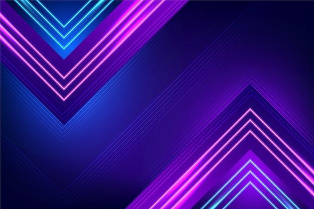 Sfondo di luci al neon viola