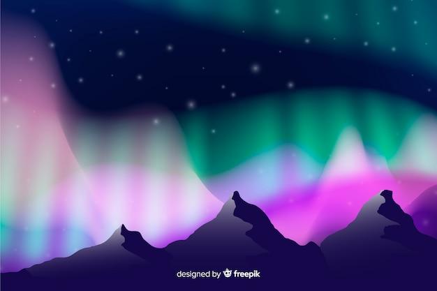 Sfondo di luci del nord