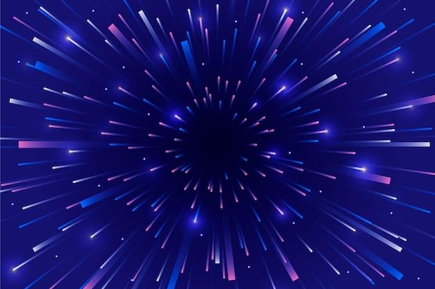 Sfondo di luci di velocità del cielo