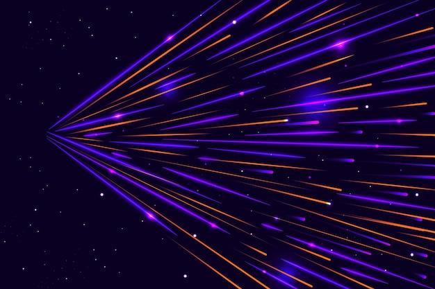 Sfondo di luci di velocità vista laterale
