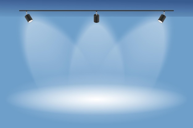 Sfondo di luci spot pulito