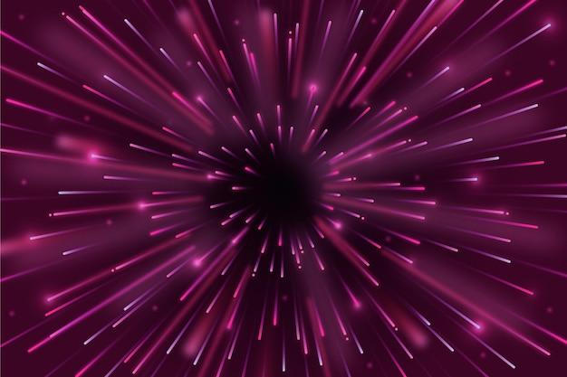 Sfondo di luci velocità rosso scuro