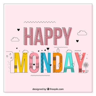 Sfondo di lunedì felice