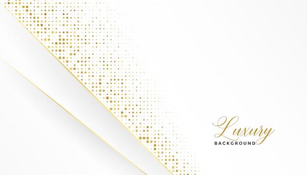 Sfondo di lusso bianco e oro con glitter