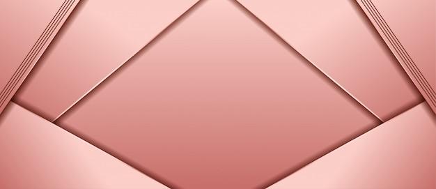 Sfondo di lusso con forme astratte rosa