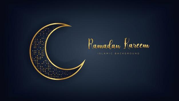 Sfondo di lusso di ramadan kareem.