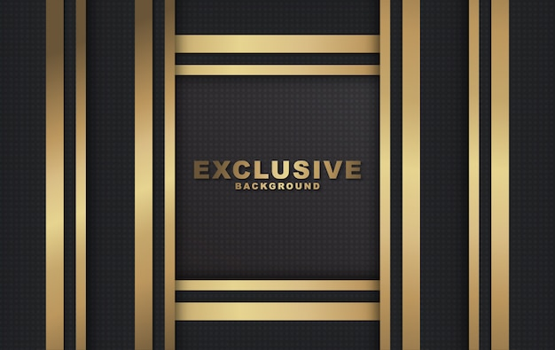 Sfondo di lusso moderno dorato e nero