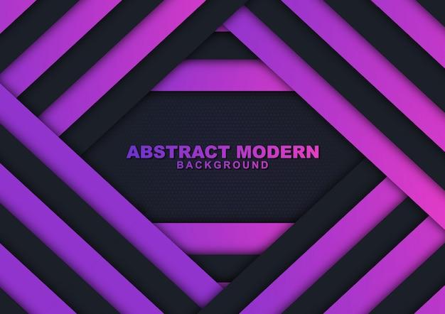 Sfondo di lusso moderno viola e nero