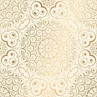 Sfondo di lusso ornamentale mandala