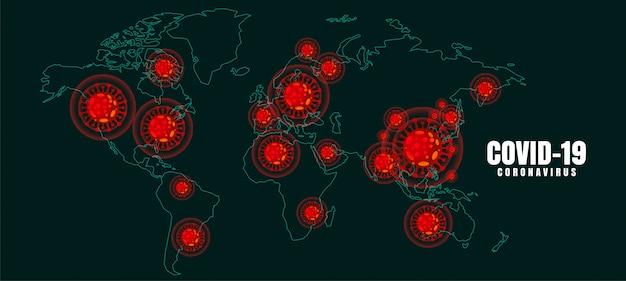 Sfondo di malattia pandemica epidemia globale di coronavirus covid-19