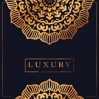 Sfondo di mandala di lusso con design arabesco dorato stile orientale islamico arabo