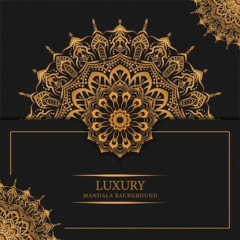 Sfondo di mandala di lusso con disegno arabo arabo modello arabesco dorato
