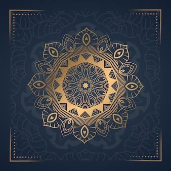 Sfondo di mandala ornamento mluxury