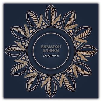 Sfondo di mandala ramadan con colore oro lusso