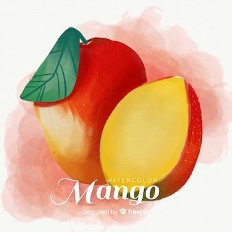 Sfondo di mango acquerello disegnato a mano