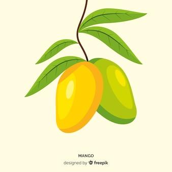 Sfondo di mango disegnato a mano