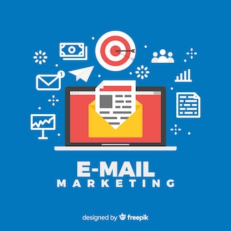 Sfondo di marketing e-mail