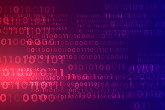 Sfondo di matrice di flusso di algoritmo di codice binario digitale
