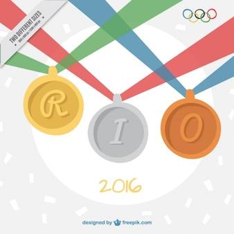 Sfondo di medaglie per i giochi olimpici