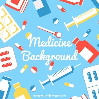 Sfondo di medicina con elementi
