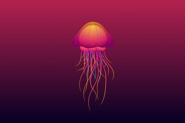 Sfondo di meduse