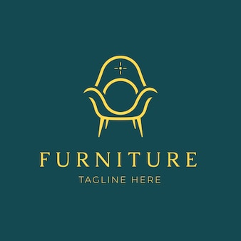 Sfondo di mobili eleganti logo